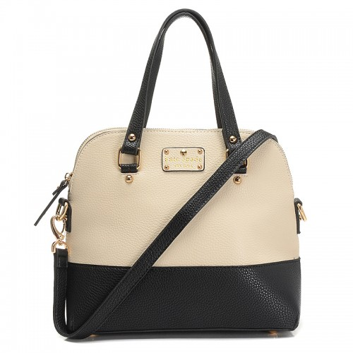 Kate Spade New York Satchel Grove Court Maise White&Black