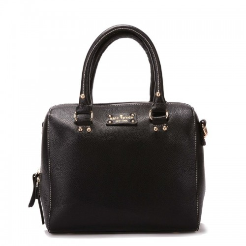 Kate Spade Wellesley Alessa Leather Satchel Purse Bag Black