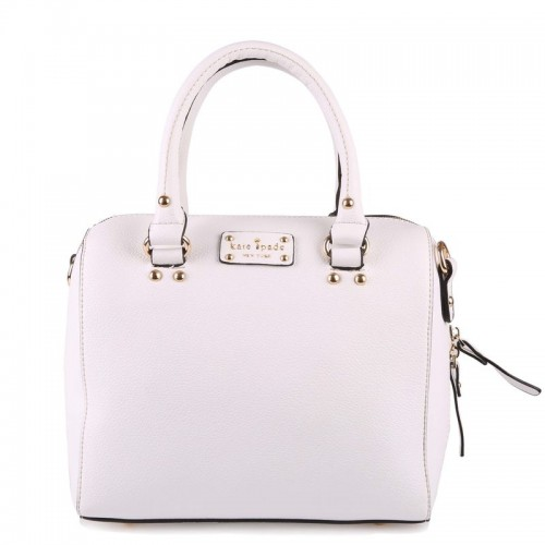 Kate Spade Wellesley Alessa Leather Satchel Purse Bag White