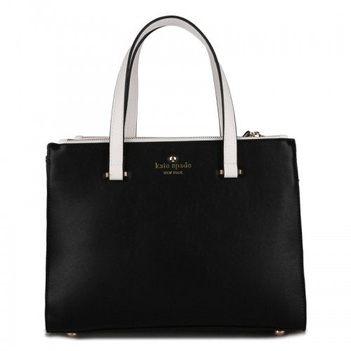 Kate Spade Battery Park City Evalyn Tote In Vivid Black