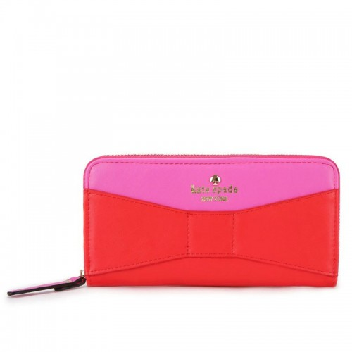 Kate Spade New York Lacey Wallet Red And Pink