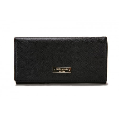 Kate Spade Newbury Lane Stacy Bazookapnk Leather Wallet New Blac