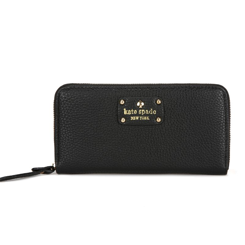 Kate Spade New York Wellesley Neda Zip Around Wallet Black