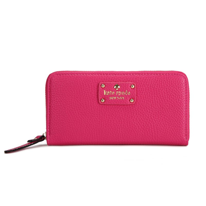 Kate Spade New York Wellesley Neda Zip Around Wallet Deeppink